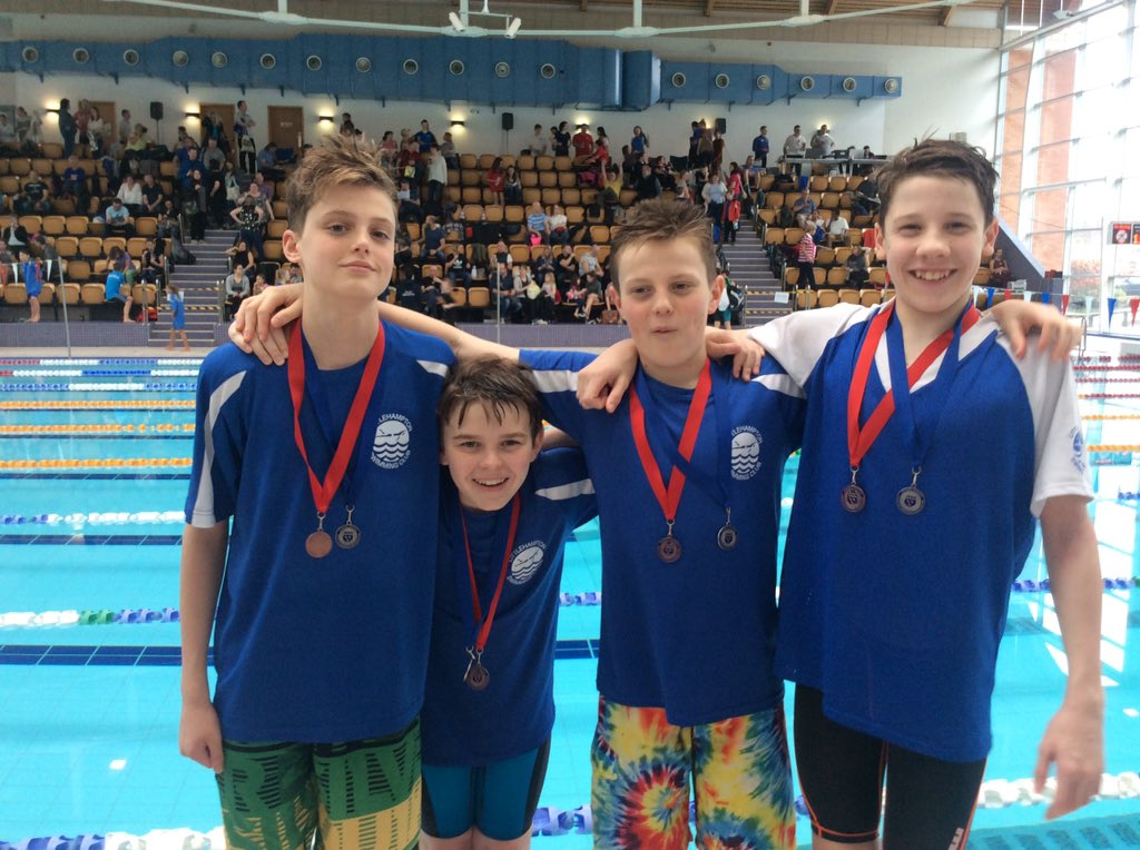 Littlehampton Swim Club Relay Team 2nd and 3rd place
